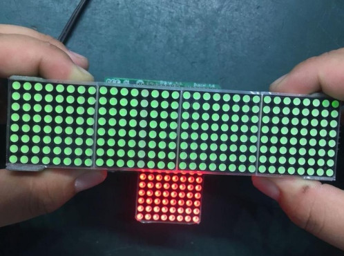 Image 4 - MAX7219 dot matrix module microcontroller module 4 in one display-in Integrated Circuits from Electronic Components & Supplies