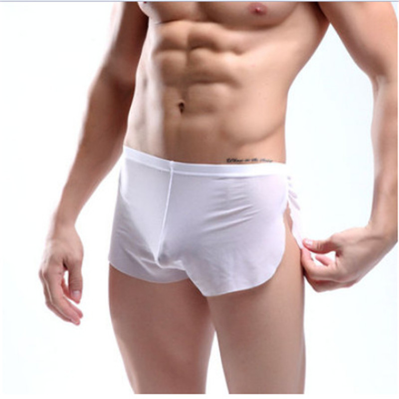 Sexy fashion Men solid color lounge pants Male panties pajama pants home furnishing loose wear Sexy Lingerie Gay wear FT132