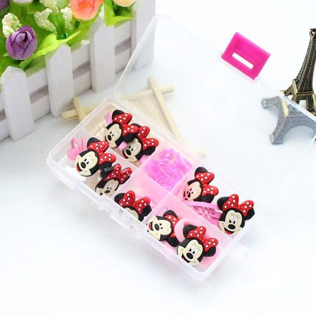 1 Box 2017 Fashion Cute S Hair Band Hello Kitty Accessories Elastic Bands Clip Gum Kids Gifts Headwear