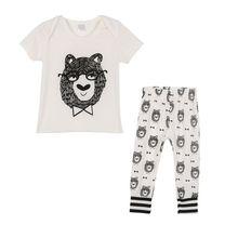 Baby clothes boy Girls fashion 2pcs children clothing set Baby Clothes Set Summer Boys Cartoon T-shirt + Pants Children Clothing недорго, оригинальная цена