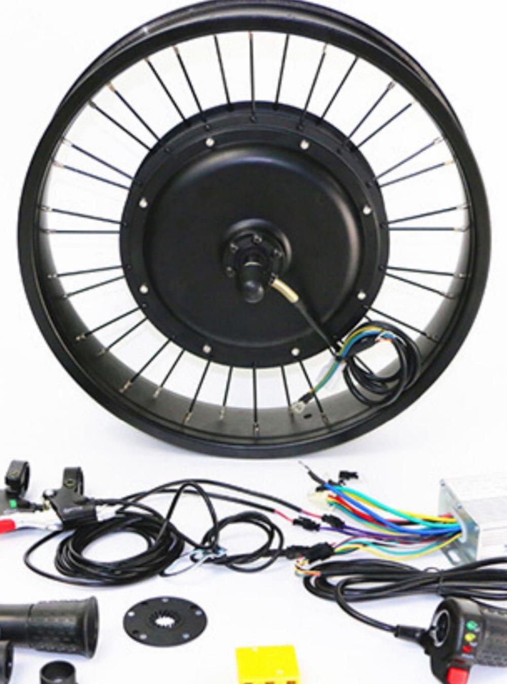 Kit de conversion de vélo e pour roue de moteur arrière 20 ''24'' 26 ''29''et 700C (28'') pièces de vélo électrique batterie au lithium 48 V 1000 W 20ah