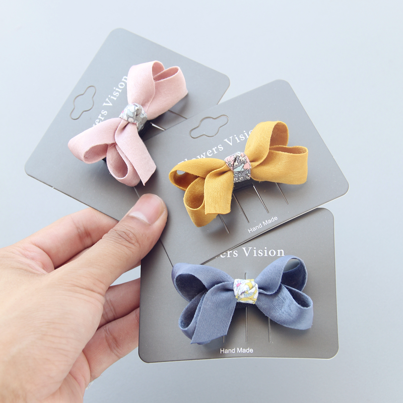 Fabric bow Clips Hair bow Hair Clips Hair Barrettes Boutique Cloth Hairbow Hairgrips Kids Girl's   Headwear   Hair Accessories