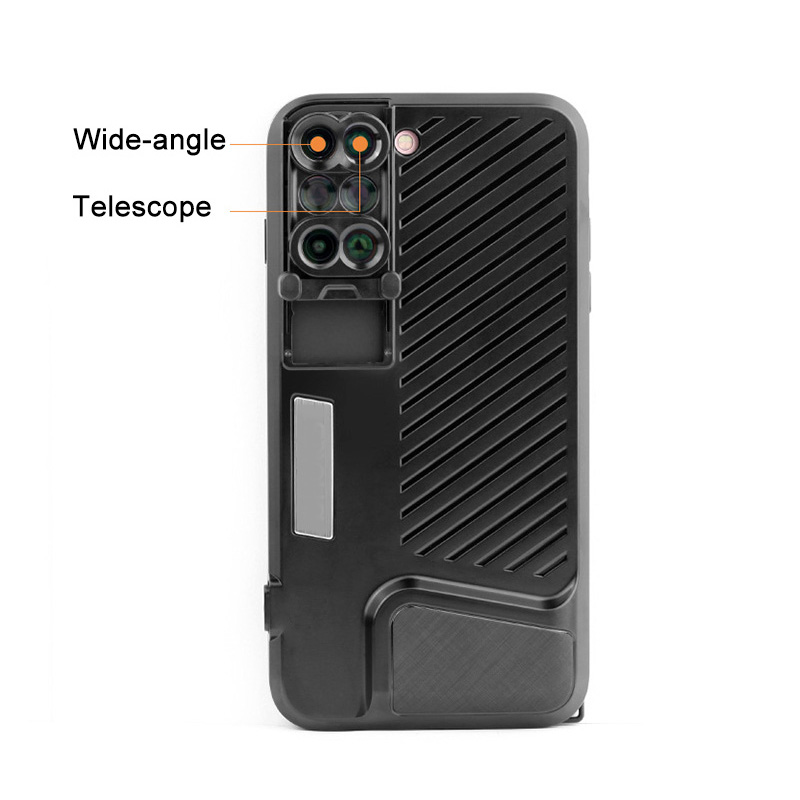 18 New Arrival Dual Camera Lens For iPhone X 8 Plus Fisheye Wide Angle Macro Lens For iPhone 7 Plus Phone Case Telescope Lens 12