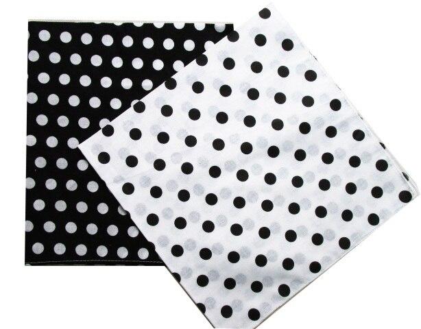 Bandanas Scarf Polka-Dot Headwear/hair-Band Black White Kids Cotton New-Fashion Women/mens