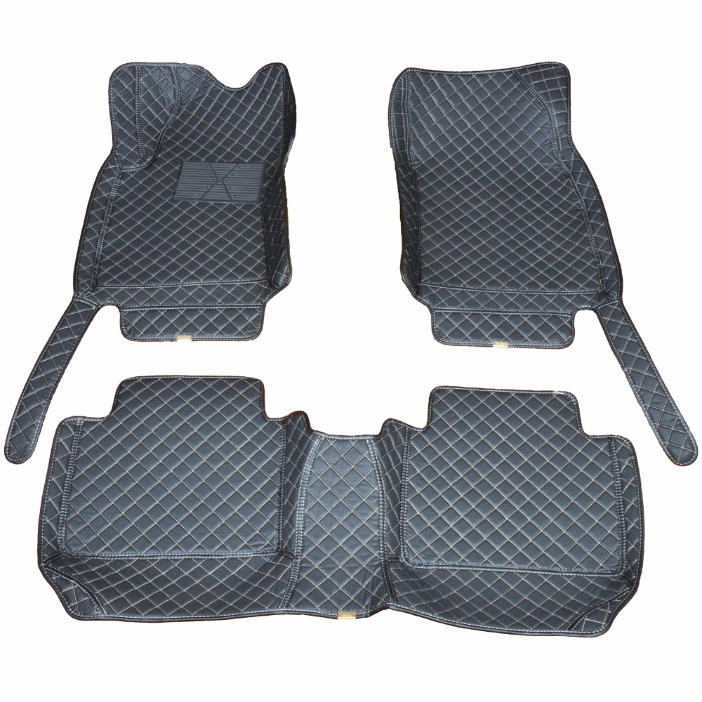 Custom car floor mats for 2010-16 Nissan X-TRAIL Waterproof antiskid to enhance safety dust proof easy cleaning beautiful seven seats cars dedicated floor mats rubber feet thick waterproof latex non slip easy to clean carpets for highlander