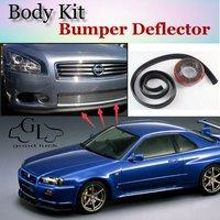 Bumper Lip Deflector Lips For Nissan Skyline GT R GTR R30 R31 R32 R33 R34 V35 Front Spoiler Skirt For TopGear / Body / Kit Strip