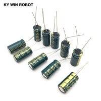 10 шт. 10 в 2200 мкф электролитические конденсаторы 2200 мкф 10 в 10х20 мм 105с радиальный высокочастотный низкое сопротивление электролитический конденсатор