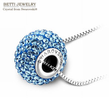 2016 recién llegado 100% original cristales de SWAROVSKI Bead pendant necklace para para 2016 navidad regalo de la madre