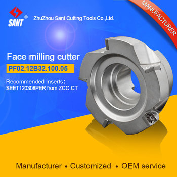 Mached insert SEET120308PER Indexable milling cutter milling tools facing cutter cutting FMP02-100-B32-SE12-05/PF02.12B32.100.05