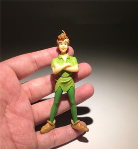 Image 2 - 2 peças/lote 9cm jack e o pirata neverland peter pan ação figura brinquedos coleção brinquedo