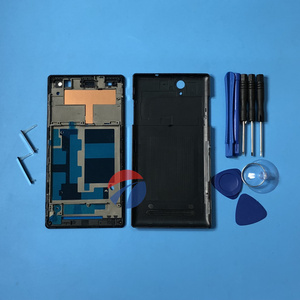 Image 2 - Full Housing Front Frame Chassis + Back Battery Cover Case for Sony Xperia C3 S55U D2502 D2503 D2533 + tools