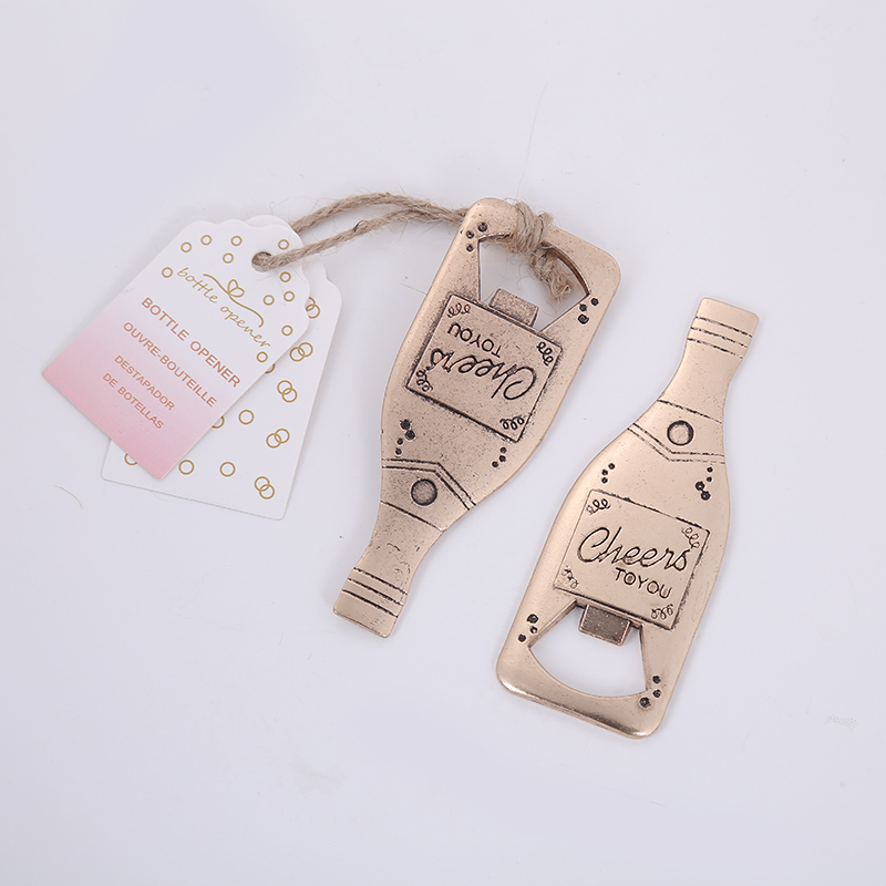 Creative Champagne Metal Beer Bottle Opener Personalized Favors And Gifts For Party Supplies Wedding