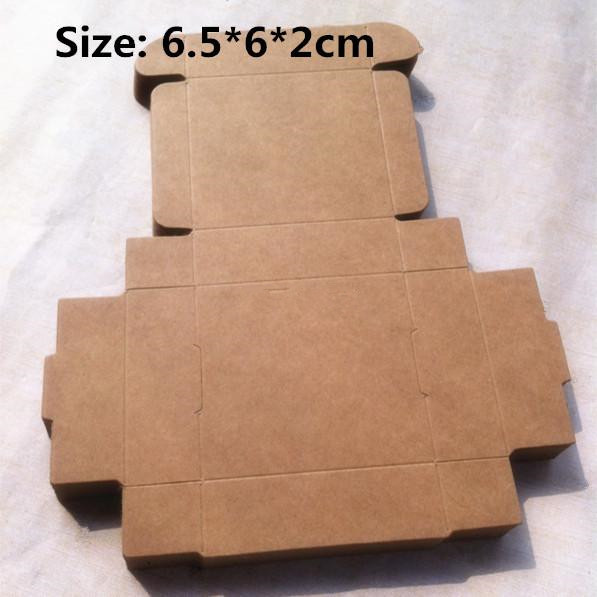 100pcs Lot 6 5 6 2cm Blank Kraft Paper Boxes Craftwork Gift Ear