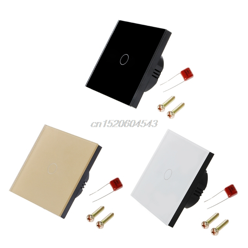 1 Gang EU Standard Smart Switch Remote Control/Touch Wall Light Touch Switch 170-240V Surface Waterproof Glass Panel R11 funry eu standard touch switch2 gang 1 way glass panel wall switch smart home remote control light switch ac110v 240v