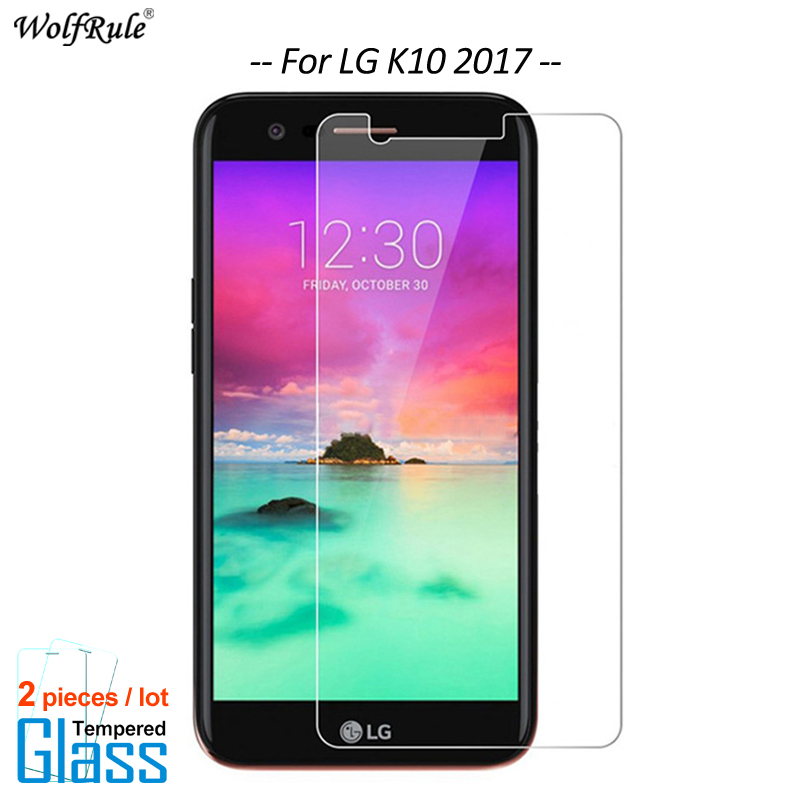 2PCS Screen Protector sFor Glass LG K10 2017 Tempered Glass For LG K10 2017 Glass Protective phone Film LV5 M250N WolfRule