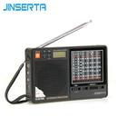 JINSERTA New Portable Tecsun R-2010D Full Band Radio Receiver Digital FM/MW/SW Radio With LED Display Alarm Clock Music Player