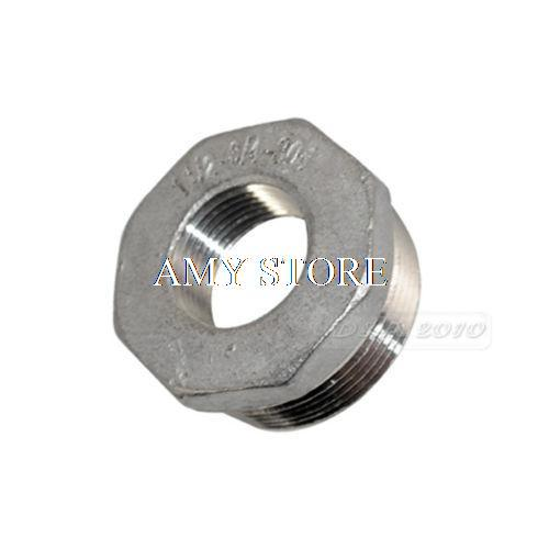 """1"""" Male to 3//4/"""" Female M//F Threaded Reducer Bushing Pipe Fitting SS304 BSP"""