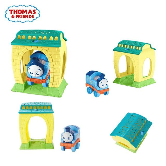 Thomas e Amigos Treina Railway Luz proje Acessórios Clássicos Brinquedos Para As Crianças Diecast Brinquedos Educação Presente de Aniversário