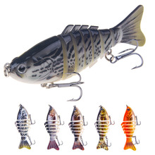 Fishing Lure 10cm_16g 3D Eyes 7 Segment Lifelike Hard Lure Crankbait Sinking Wobblers 2 Hook Fishing Baits Pesca Cebo YU047