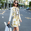 European Style Women S Suit Fashion Designer Print Jacquard Two Piece Set Long Sleeve Jacket Short