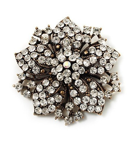 2,2 дюймов винтажная Серебряная черная Хрустальная Морская звезда, брошь для вечеринки, выпускного, ювелирные изделия, подарки - Окраска металла: 3