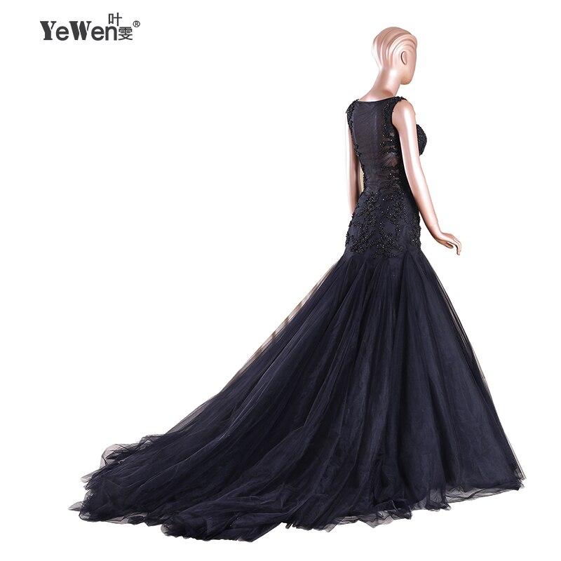 Plage Sexy noir/ivoire complet perles col en V dos nu sirène robe de mariée 2018 robes de mariée vestido de noiva robe de mariage