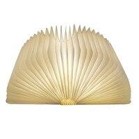 Innovative LED Foldable Wooden Book Shape Desk Lamp 5V 1000mA USB Rechargeable Folding Book Reading Light