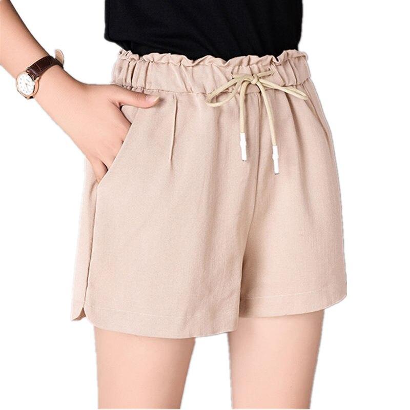 100% Kwaliteit 4xl Zomer Shorts Vrouwen Hoge Taille Casual Wijde Pijpen Korte Feminino Streetwear Plus Size Dames Micro Shorts Losse Hot Korte Q1397