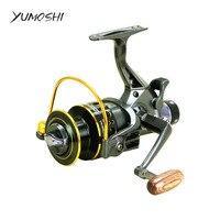 YUMOSHI Fishing Reel 5 2 1 10 1BB Front And Rear Drag Reels 3000 4000 5000