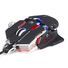 New G10s Wired 4 Colors LED Backlit 4000DPI Adjust Usb Ergonomic Optical Gaming Mouse Gamer Metal PC Laptop Computer + 9 Buttons