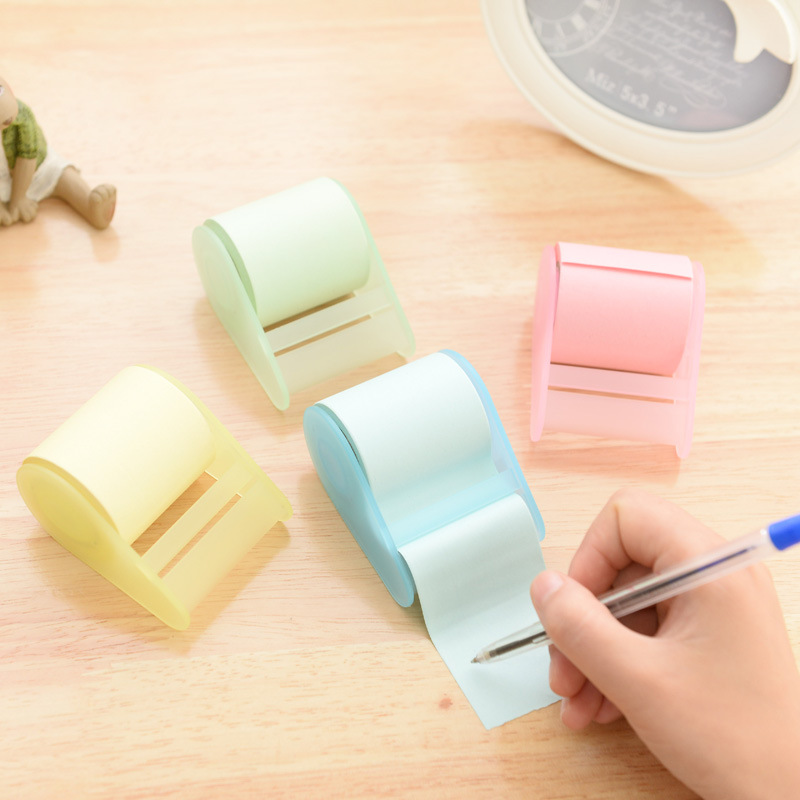 MEIKENG 4PCS Creative Candy Color Stickers Memo Pad Post it Note Pads Sticky Notes Office School Supplies Korean Stationery