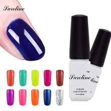 Saroline 29 Colors Gel Nail Polish UV Gel Polish Long-lasting Soak-off LED UV Gel Color Hot lucky blue Nail Gel Nail Art