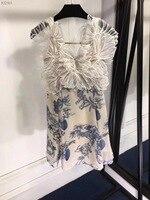 WB06522 High quality New Fashion Women 2018 Summer Dress Luxury Brand European Design party style dress