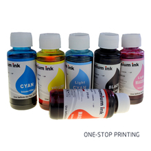 6 colors 100ML universal dye ink refill kit for use in Epson HP Canon Brother Lexmark Dell Samsung all printer ink cartridges