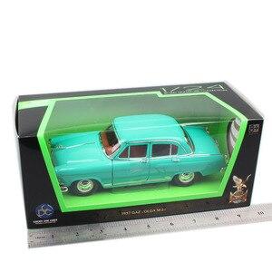 Image 5 - 1:24 escala rússia soviet union gorky gás 21 m21 volga salão 1957, clássico retro diecast veículo, modelo, brinquedo de carro em miniatura para bebê