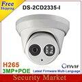 Nueva llegada DS-2CD2335-I reemplazar DS-2CD2332-I poe 3mp 30 m IR Domo de Red de seguridad CCTV cámara ip IPC H265