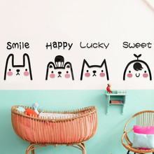 Cute expression 3d acrylic wall sticker Cartoon Childrens room decorative wallpaper Baby Nursery DIY Wall Stickers
