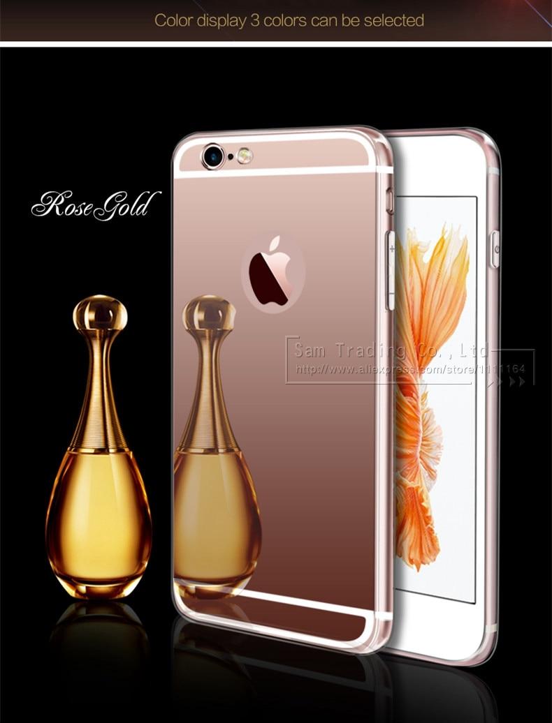 Cermin mewah TPU lembut kasus untuk iPhone 5S 5 se, Tas ponsel kasus - Aksesori dan suku cadang ponsel - Foto 4