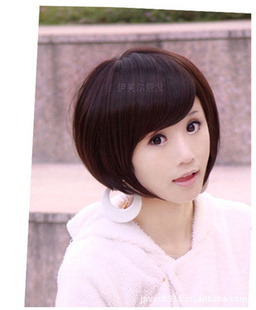 Free Shipping 2013 New women short wig oblique style bobo wigs popular hairstyle OL style wig for women
