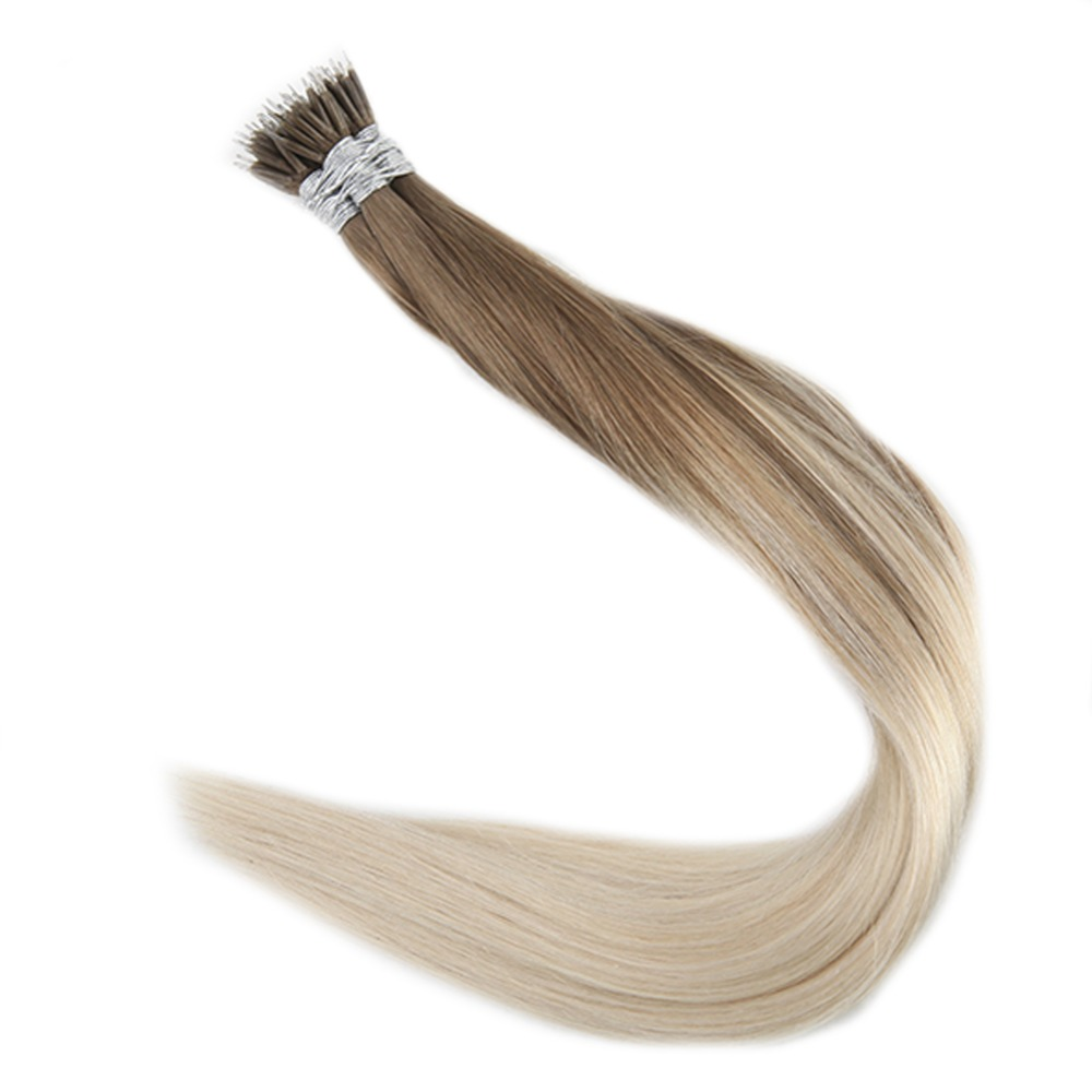 Full Shine 40 Grams Per Pack Nano Ring Hair 100% Remy Hair Extensions Keratin Human Hair Pre Bonded Extensions Nano Tip Hair