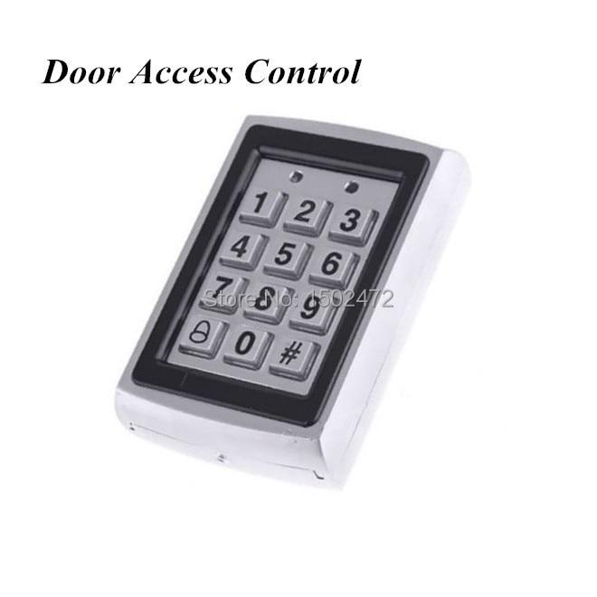 เครื่องอ่าน RFID ประตูกระจกและปุ่มกดประตูการควบคุมการเข้าถึงกรณีปุ่มกดโลหะกันน้ำ