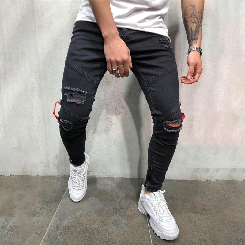 Refren Gen Razboj Pantalones Rotos Negro Hombre Goldstandardsounds Com