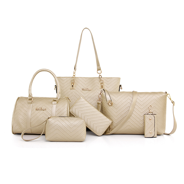 Lady Handbag 6 Pcs/set Composite Bags Set Women