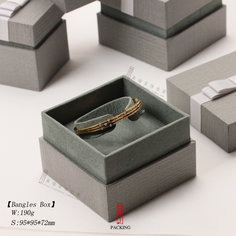 New Jewelry Bo Gray Color Pendant Necklace Or Bangle Good Quality For Wedding Birthday And Christmas Party Gift Box In Packaging Display