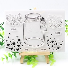 KSCRAFT Wishing Bottle Transparent Clear Silicone Stamp/Seal for DIY scrapbooking/photo album Decorative clear stamp 280