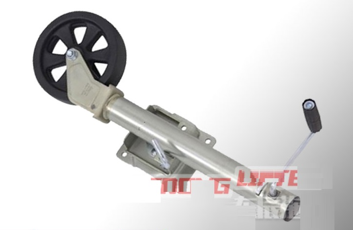 """2000LB/900KG 8"""" wheel 360 degree swivel side roll Trailer jack support, yacht tow truck Trailer support with leg, pulley jack"""