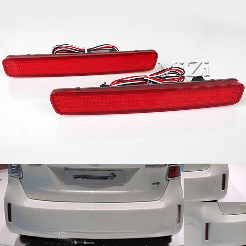 High Quality 2PCS LED Rear Bumper Reflector Tail Brake Light Fog Lamp For TOYOTA NOAH VOXY 80 and Pruis 40 series 2011-2015 new for toyota altis corolla 2014 led rear bumper light brake light reflector novel design top quality fast shipping