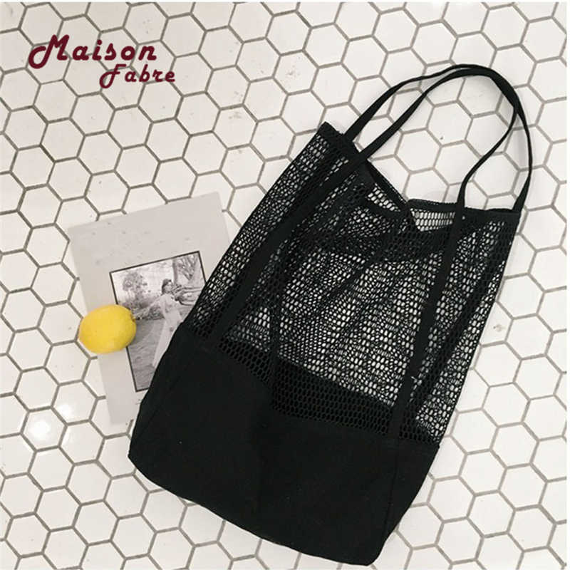 8d0277018b HB@Fashion Girls Causal Shopping Handbag Shoulder Mesh Shopper Beach Bag