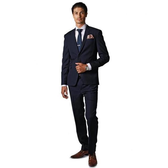 Aliexpress.com : Buy Slim Fit Peaked Lapel Tuxedos Black Wedding ...