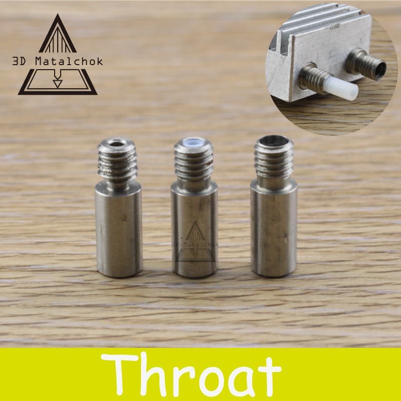 2pcs 3D printer part Chimera extruder Heat break V6 dual hotend J-head throat 1.75mm filament Reprap